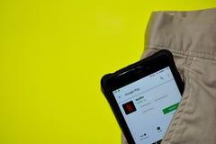 Netflix dev zastosowanie na Smartphone ekranie obraz stock