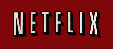 Netflix logo. Close-up of the netflix logo Royalty Free Stock Photos