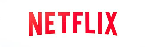 Netflix Logo isolated. Los Gatos, California, United States - August 12, 2018: Netflix Logo isolated from the sign of headquarters building in Silicon Valley royalty free stock image