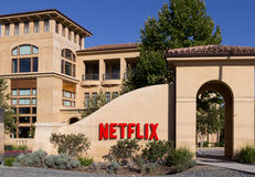 Netflix lokuje, Los Gatos, Kalifornia usa Obraz Stock