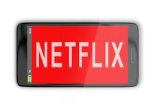 NETFLIX - media concept royalty free illustration