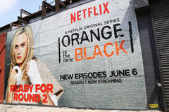 Netflix mural in Williamsburg section in Brooklyn Royalty Free Stock Images