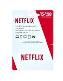 Netflix populaire giftcard Stock Afbeeldingen