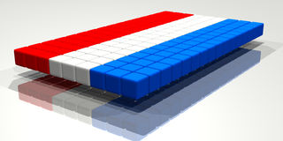 Nethelands Flag. Flag of The Netherlands made from cubes Stock Photo