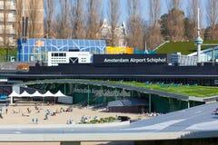 NETHELANDS: Model Amsterdam airoport Schiphol w miniatura parku Madurodam obrazy royalty free