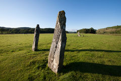 Nether Largie Standing Stones, Kilmartin Glen, Scotland Royalty Free Stock Photo