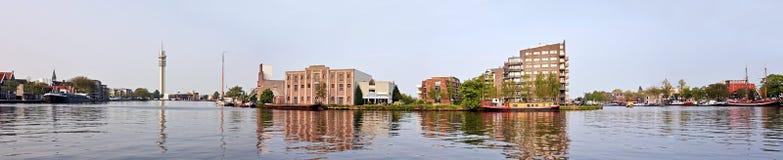 nether panorama- siktszaanstad för industri Royaltyfria Bilder