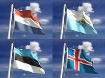 Национальные флаги Стоковые Изображения RF