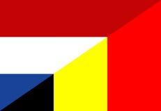 Netherland belgium flag Royalty Free Stock Photos