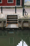 Netherland bicycle and canal Royalty Free Stock Image