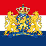 Netherland coat of arm and flag, graphic elaboration Royalty Free Stock Photography