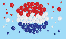 Netherland flag balloon Stock Image