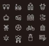 Netherland ikony set Zdjęcie Royalty Free