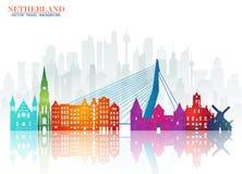 Free Netherland Landmark Global Travel And Journey Paper Background. Royalty Free Stock Photography - 117183417