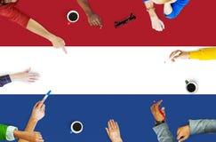 Netherland landsflagga Liberty National Concept Arkivfoton