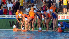 Netherland's HAVENGA Arno head coach talking about the tactics Stock Images