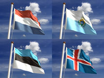Staatsflaggen Lizenzfreie Stockbilder