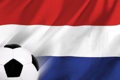 Netherland Soccer. Soccer ball and Netherland flag Stock Photos