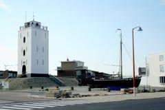 Light-house on the beach Royalty Free Stock Photo