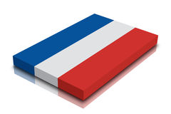 Netherlands. Flag - 3d Render with reflection royalty free illustration