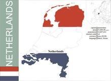 Netherlands. Flag and area vector illustration royalty free illustration