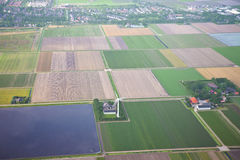 The Netherlands from above. Royalty Free Stock Photos