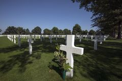 Netherlands American Cemetery Stock Photo