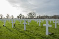 Netherlands American Cemetery and Memorial Margraten Royalty Free Stock Photos