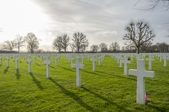 Netherlands American Cemetery and Memorial Margraten Stock Photography