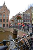 Amsterdam is a city of bicycles. Stock Images