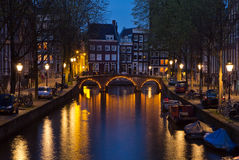 Netherlands, Amsterdam, Leidsegracht Royalty Free Stock Photos