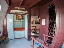 Interior view of the Museummolen Nederwaard No. 2 in the Kinder royalty free stock photo