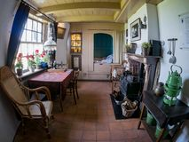 Interior view of the Museummolen Nederwaard No. 2 in the Kinder royalty free stock photography
