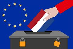 Netherlands ballot box for the European elections stock image