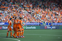 Netherlands beats Argentinia during the Hockey World Cup 2014 Royalty Free Stock Photo