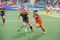 Netherlands beats Belgium during the Hockey World Cup 2014 Royalty Free Stock Images