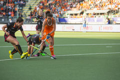 Netherlands beats Belgium during the Hockey World Cup 2014 Royalty Free Stock Image
