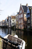 Netherlands Canal, Bike and Basket Royalty Free Stock Photography