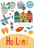 Netherlands card template Stock Photography