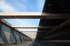 netherlands Città e viaggio in macchina Strada principale di Rotterdam fotografia stock libera da diritti