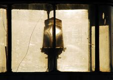Netherlands- Close Up of an Ancient Lighthouse Light stock photos