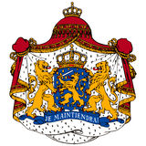 Netherlands coat of arms. On white Royalty Free Stock Images