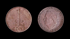 Netherlands coin of 1948. 1 cent Royalty Free Stock Photos