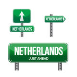 Netherlands Country road sign Stock Photo