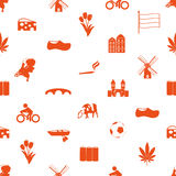 Netherlands country theme icons set seamless pattern eps10 Stock Photos