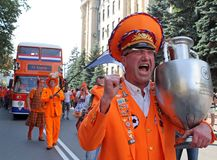 Netherlands fans Royalty Free Stock Image