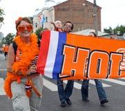 Netherlands fans Stock Images