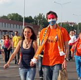 Netherlands fans Royalty Free Stock Images