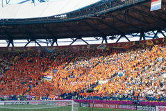 Netherlands Fans On Stadium Before Match Royalty Free Stock Images