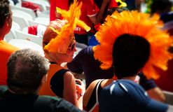 Netherlands fas at the 2014 FIFA World Cup Royalty Free Stock Photos
